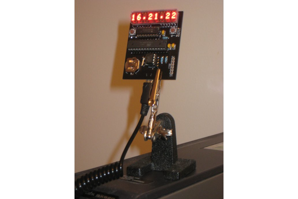 Clock kit with HDSP yellow LED matrix display 1