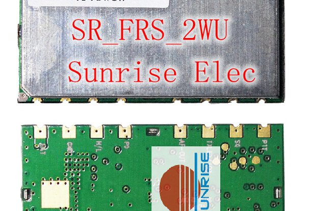 SR_FRS_2WUS  Two way radio module( 2W /400-470M)