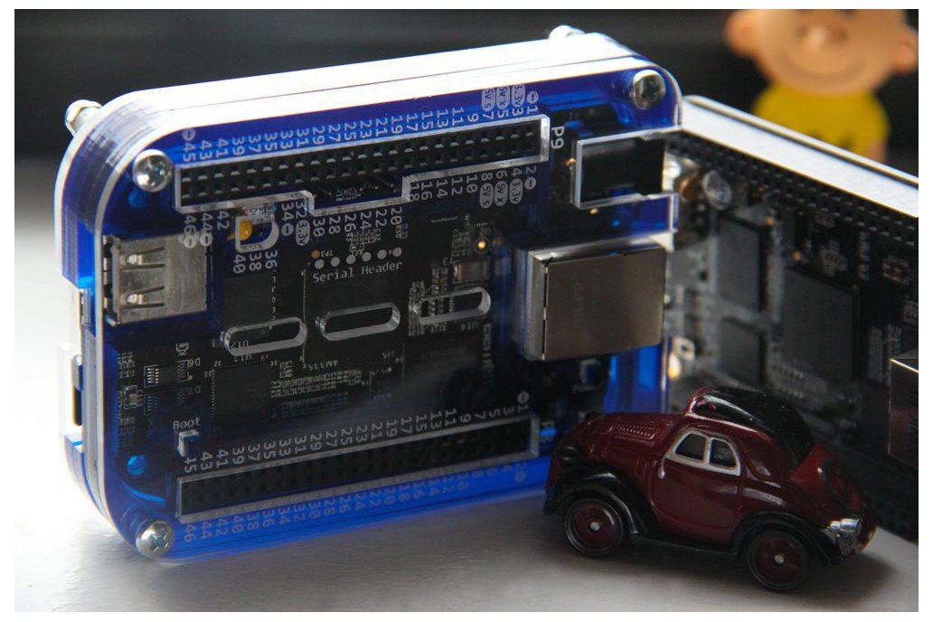 """The Blue Max"" Beaglebone Case w/ Pin Reference 2"