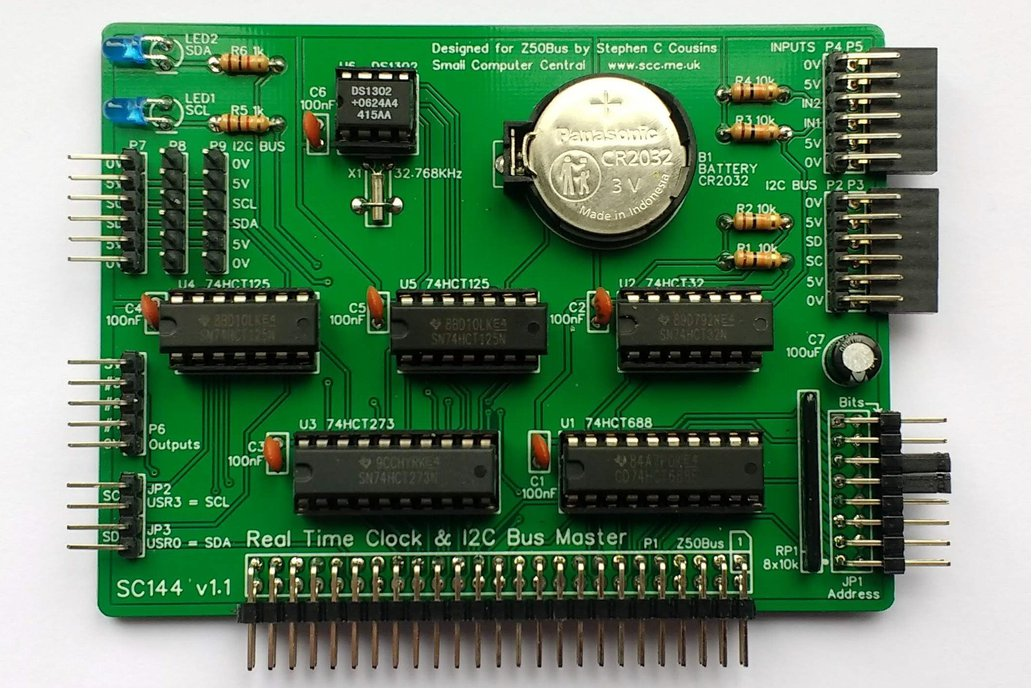 SC144 RTC & I2C Card Kit for Z50Bus 1