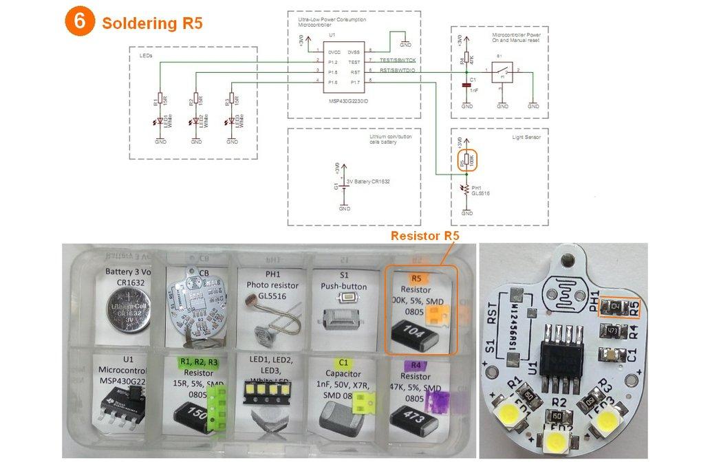Light sensing smart LED flashlight KIT 11