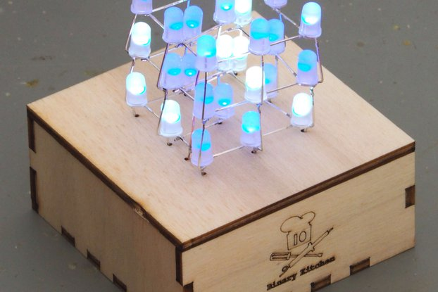 LED Cube - A colorful LED 3D cube with 27 colorful