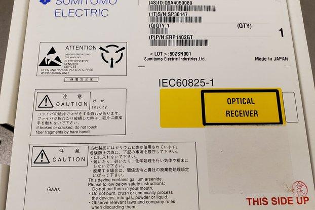 Sumitomo PIN InGaAs Amplified photodetector