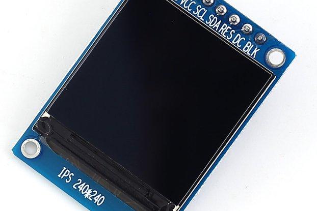 1.3 inch SPI 240x240 RGB TFT LCD 3.3V (14588)