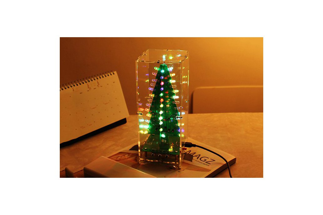 DIY Xmas Tree RGB Flash Light Support MP3(12368) 2