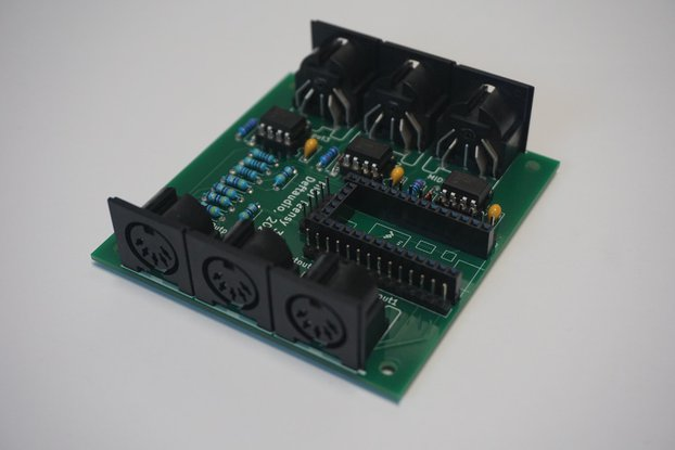 Teensy 3.2 MIDI Breakout board, 3in / 3out, USB