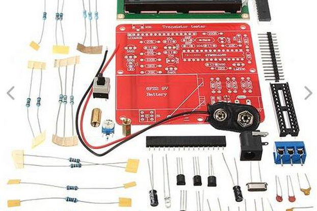 DIY Meter Tester Kit For Capacitance ESR Inductance Resistor NPN PNP Mosfet M168