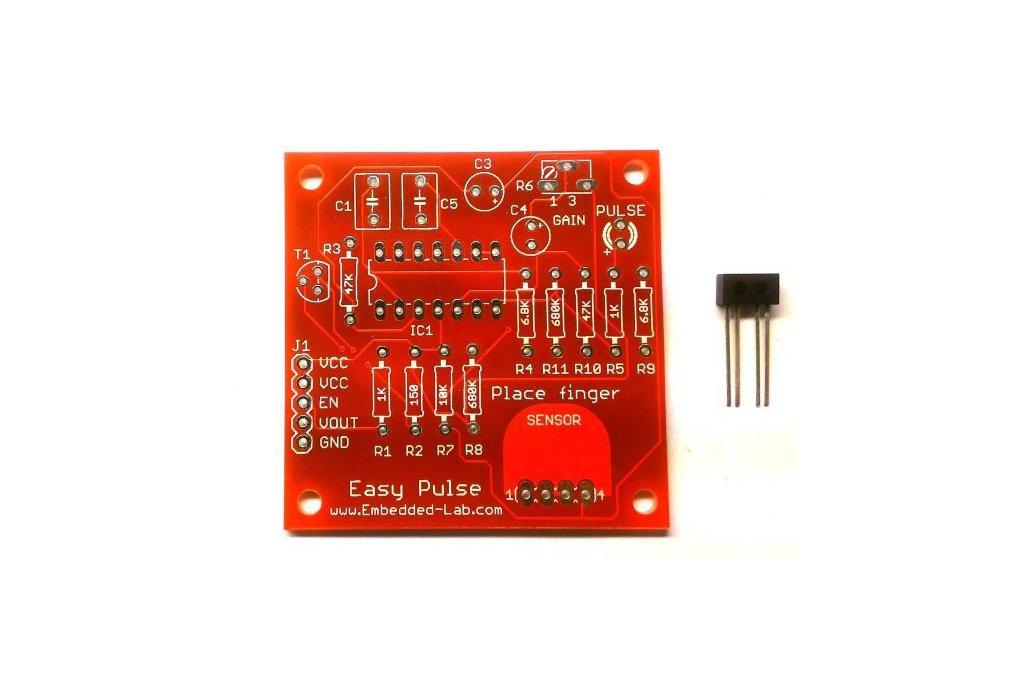 Easy Pulse PCB + TCRT1000 1