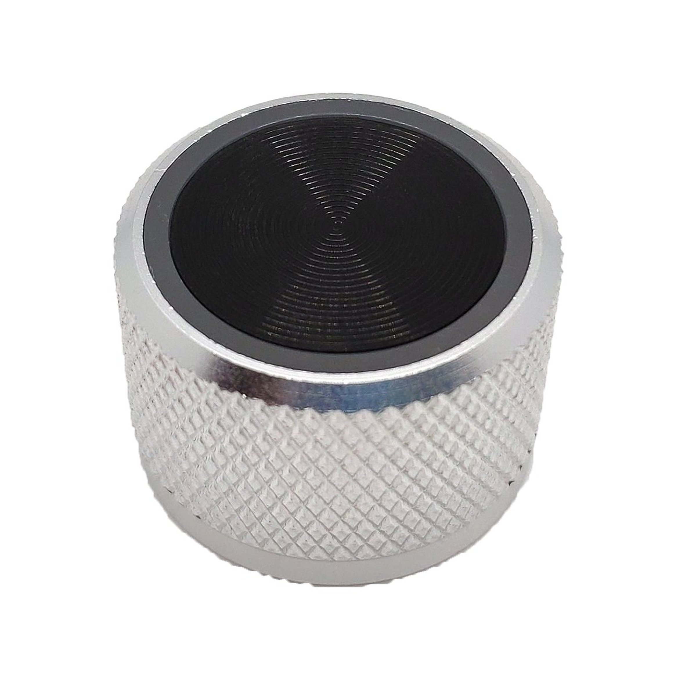 Aluminum silver knob with ring
