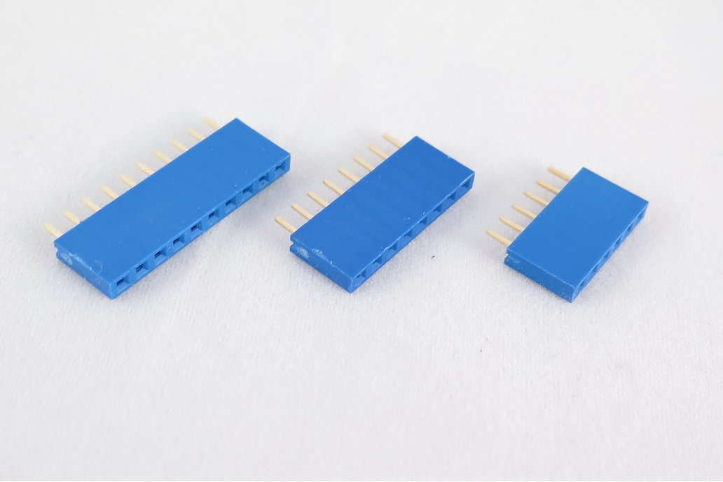 Set of 10 blue female pin headers; 6, 8,10 pin. 2