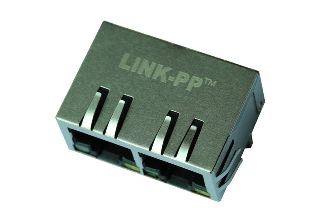 62F-1204GYD2 1X2 Port 10/100 Base-T RJ45 Connector 1