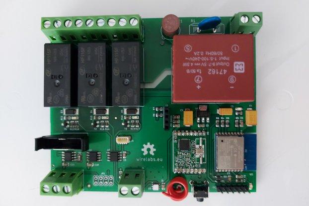 Wirela03: 3-channel WiFi Relay