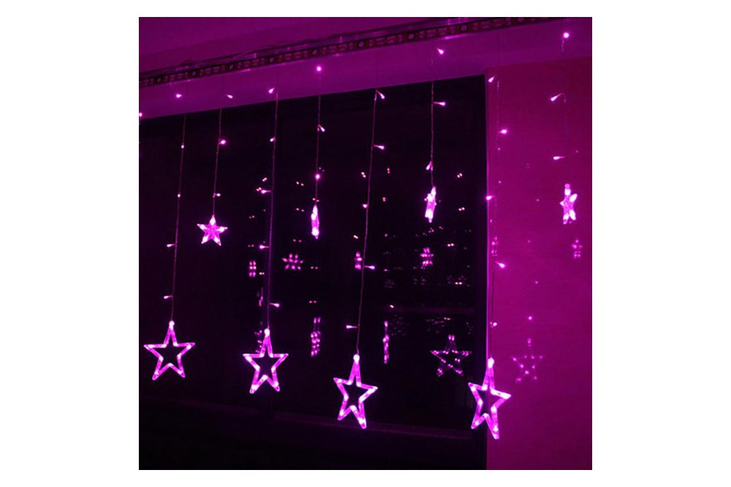 Christmas Lights Fairy Star LED Curtain String 7