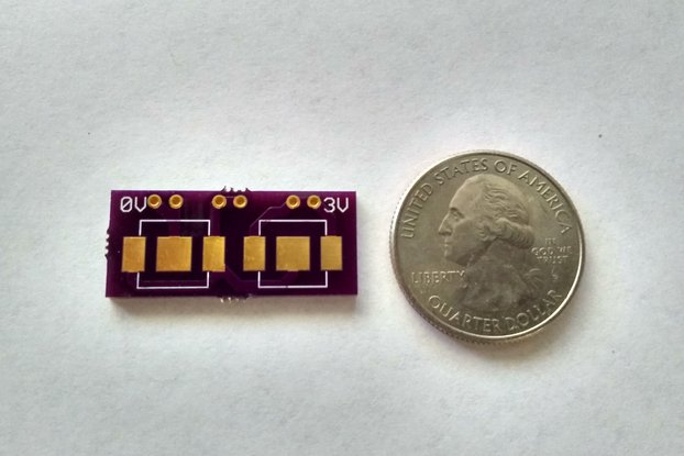 Dual 6.8mm coin cell breakout board (bare PCB)