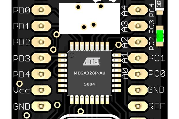 tinyUSBboard - Rev. 4 SMT kit  --rare ATmega328p special edition--