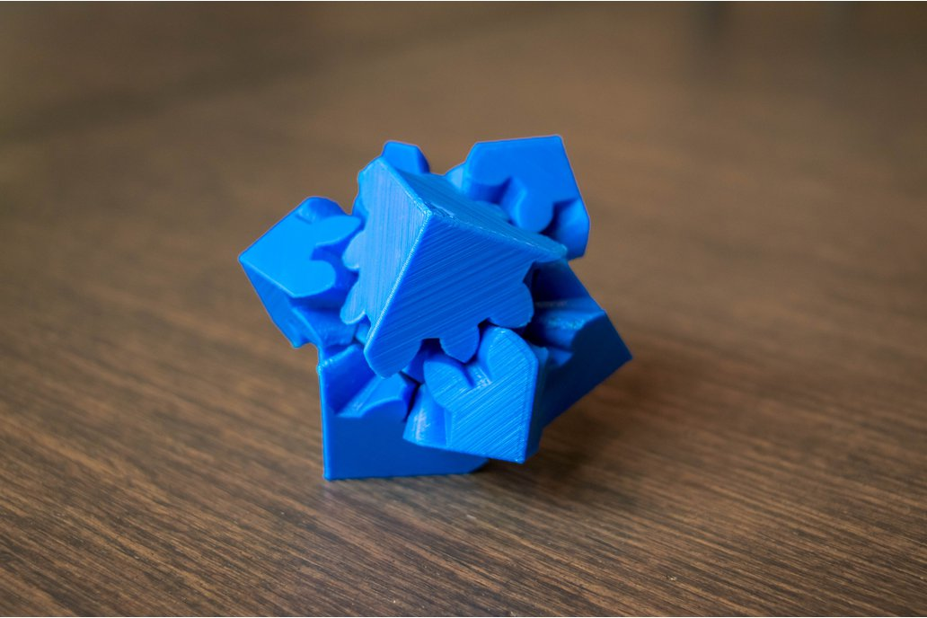 3D Printed Cube Gears Puzzle 3