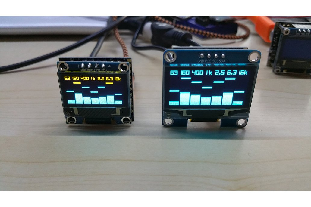 OLEDiUNO Spectrum Analyzer with 3 display modes 2
