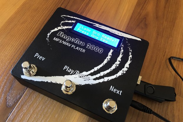 "MP3/WAV Player Stomp Box ""STAGE BRO 2000"""