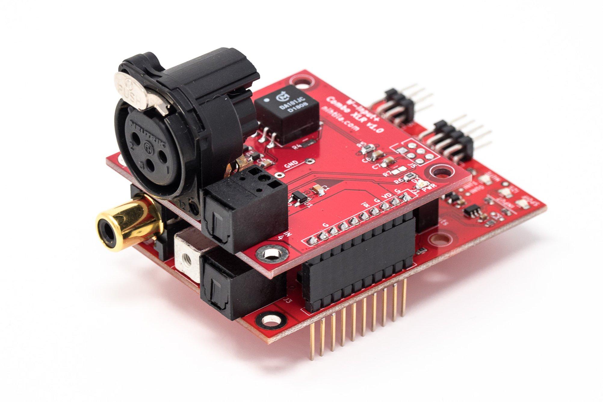W-Input+ Combo XLR stacked on W-Input