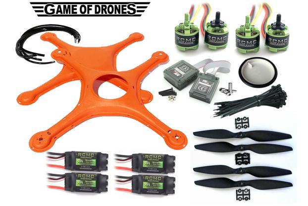 ASL Certified  DIY Drone Kit (Orange)