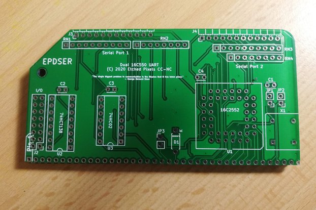 16C2552 dual UART for RC2014™ PCB only