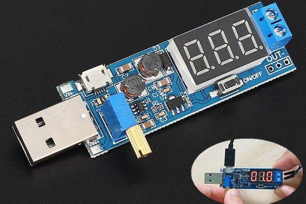 DC-DC USB Adjustable Buck Converter (13318)