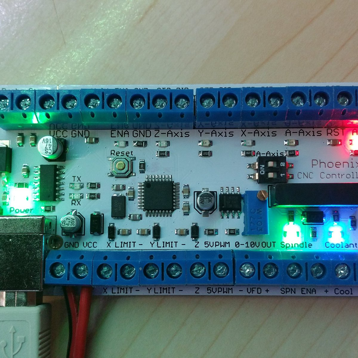 Phoenix USB CNC Controller with PWM Output from Phoenix CNC