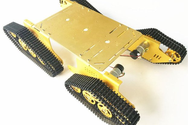 Arduino-compatible four wheels drive tank chassis