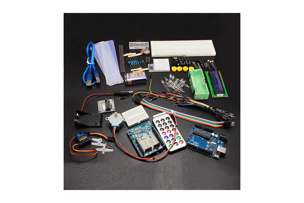 Arduino Compatible UNO R3 Starter Kit Set For Step Motor / 1602 LCD 1