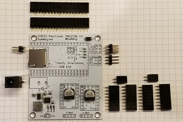 Pen Plotter Controller Kit for ESP32 & TMC2130 V2