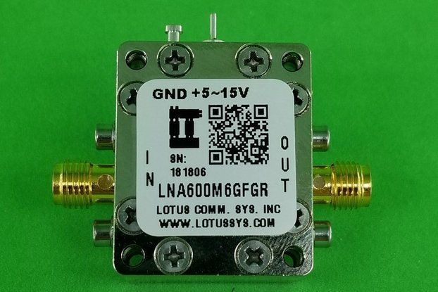 Broadband LNA with LDO 0.9dB NF 600M~6GHz SMA