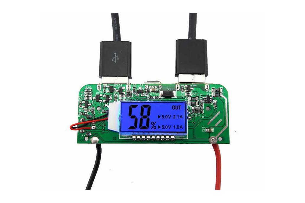 Two-USB Mobile Power Bank Charger PCB Board(6876) 1