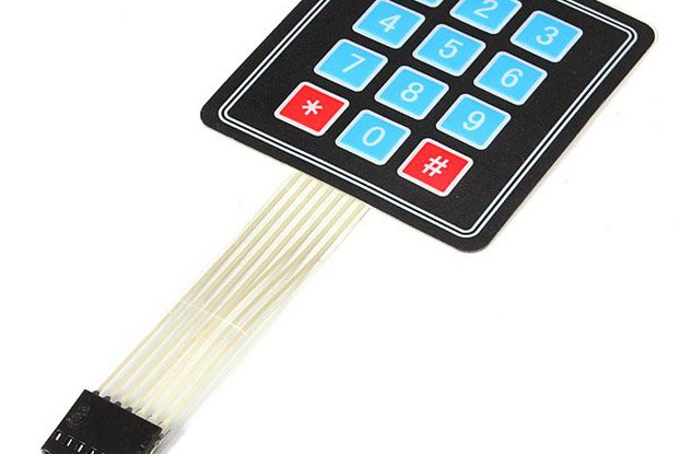12 Key Array Membrane Keypad