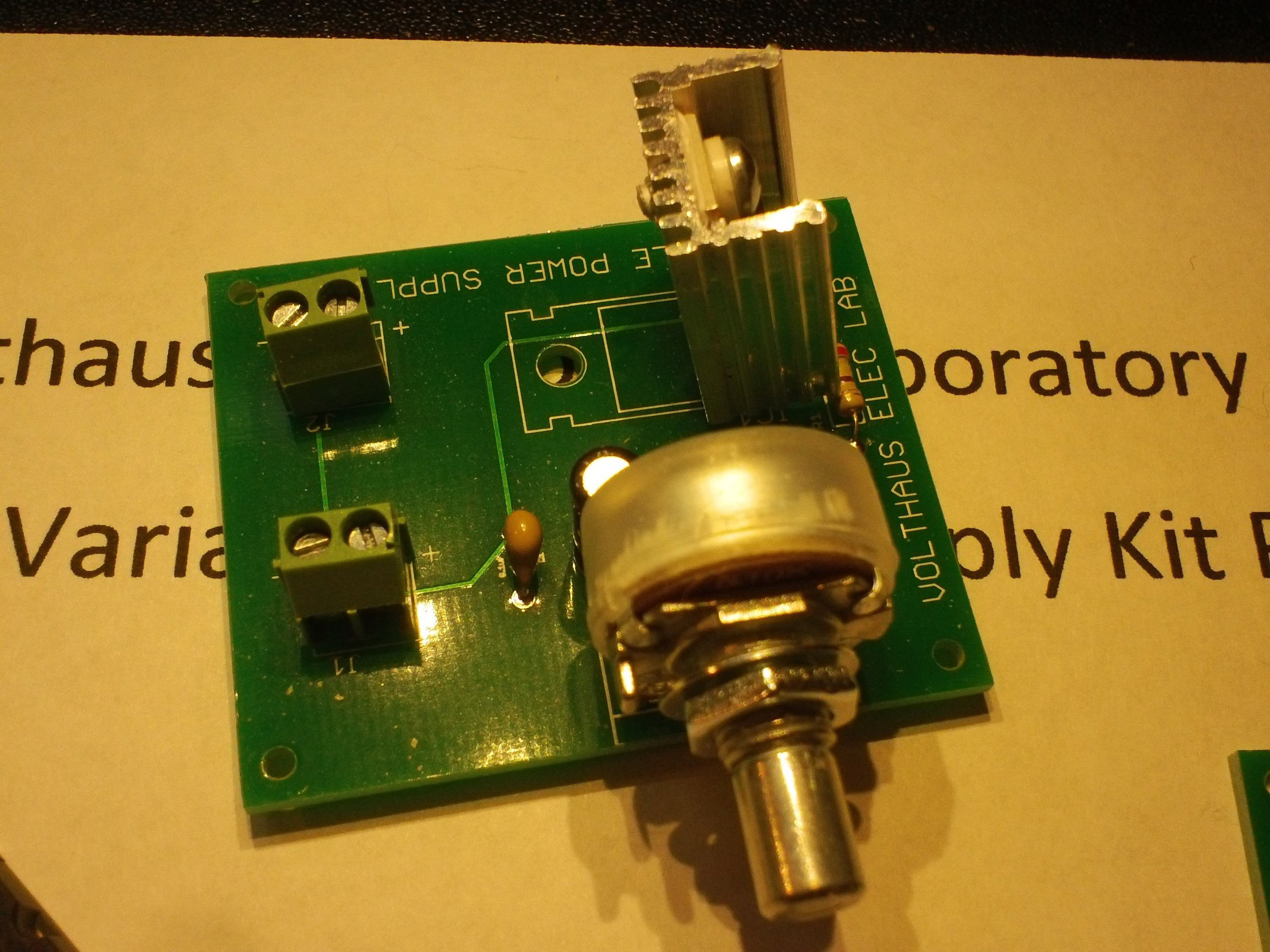 Lm317t Variable Power Supply Kit From Volthaus Electronics Circuits Projects Electronic Kits Hobby More 1