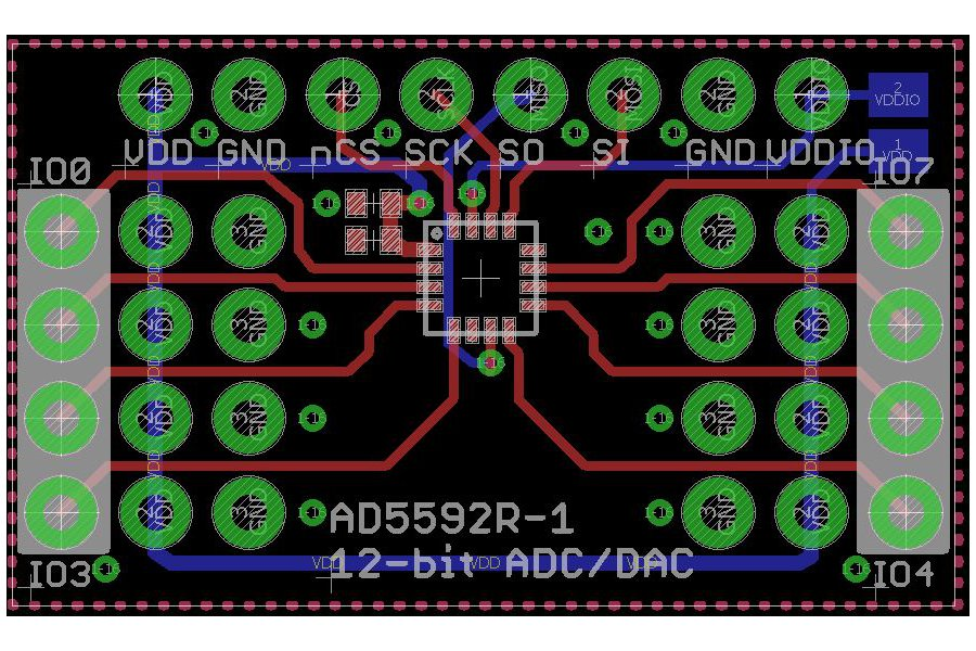 AD5592R 8-channel 12-bit ADC, DAC or GPIO Breakout