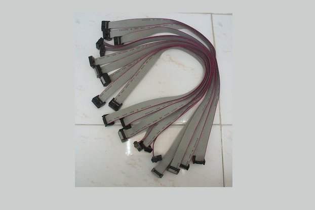 100mil 10pin 2x5 IDC flat cable