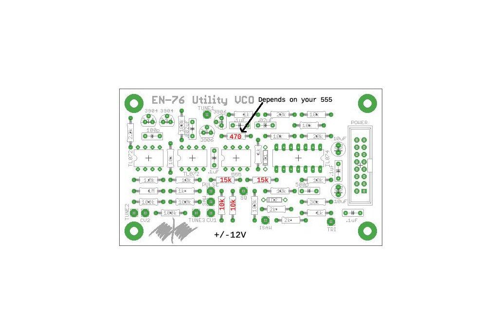 EN76 Utility VCO PCB