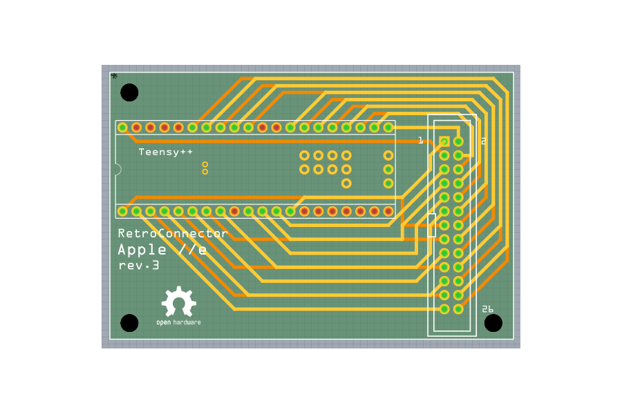 RetroConnector keyboard shield for Apple IIe