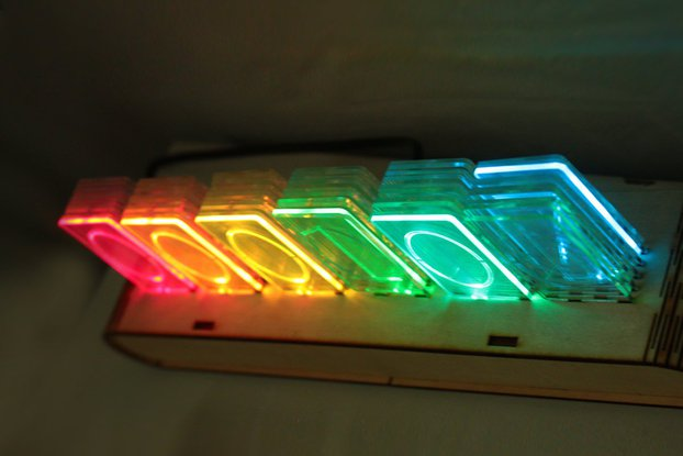 NIXT CLOCK - RGB WiFi Acrylic Nixie Kit esp8266