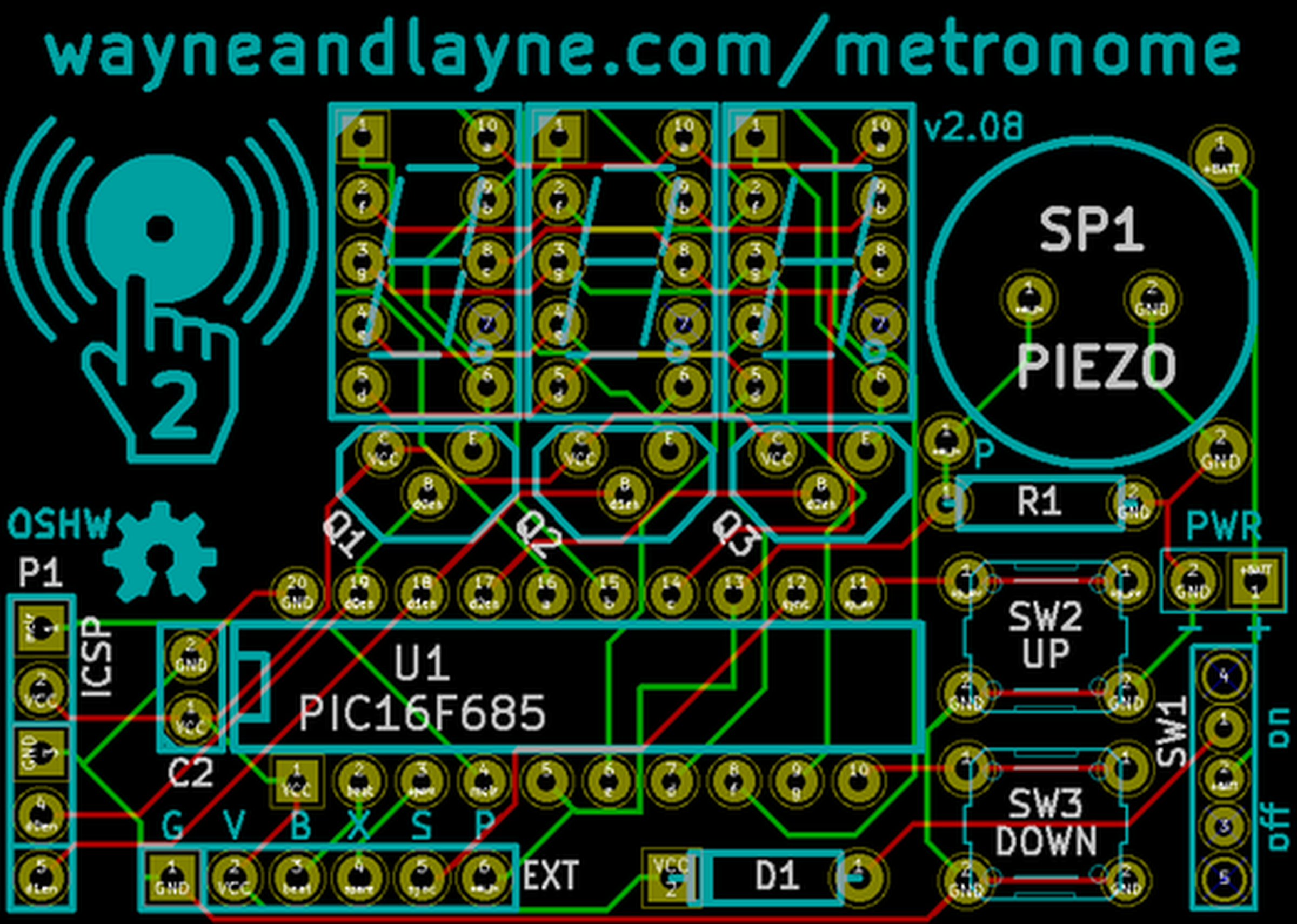 Tap Tempo Metronome From Wayne And Layne Llc On Tindie Build A Blinky Smt Kit 3