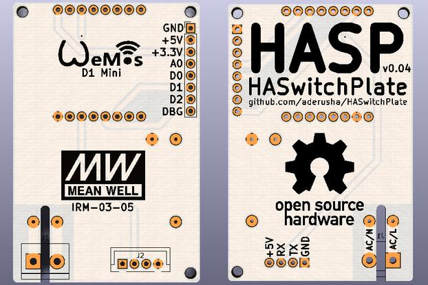 HA SwitchPlate (HASP) PCB