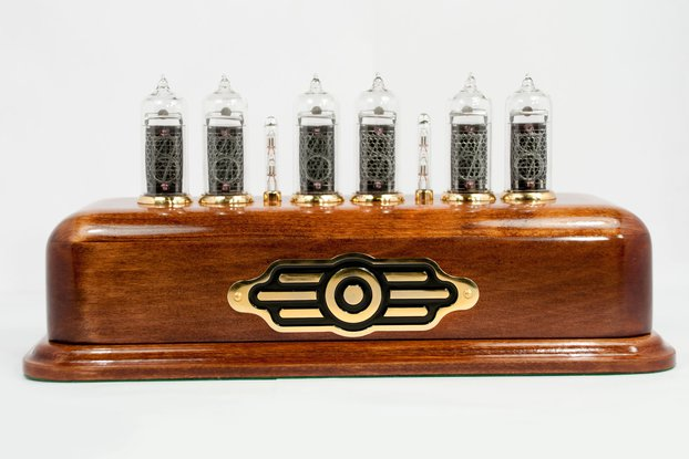 Vintage style Nixie Clock  on IN-14 nixies