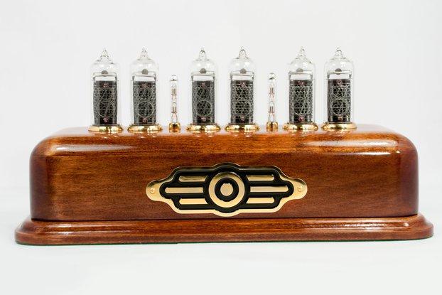 Vintage style Nixie Clock  on IN-14 nixies