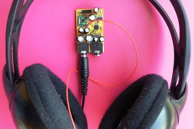 Arduino controlled tiny FM radio - audio  mixer