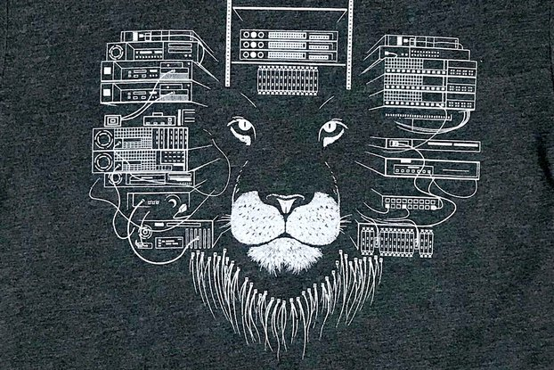Maneframe Lion Graphic T-shirt in Charcoal Grey