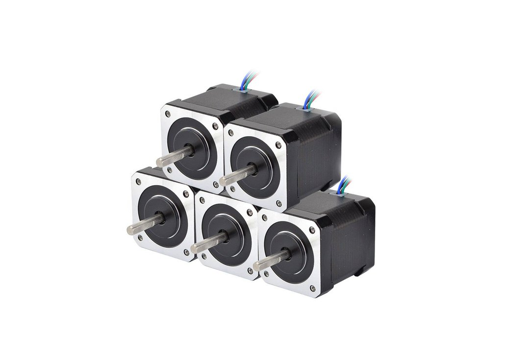 5 PCS Nema 17 Stepper Motor 59Ncm(84oz.in) 1
