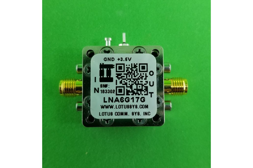 Amplifier LNA 1.7dB NF 6GHz to 17GHz 1
