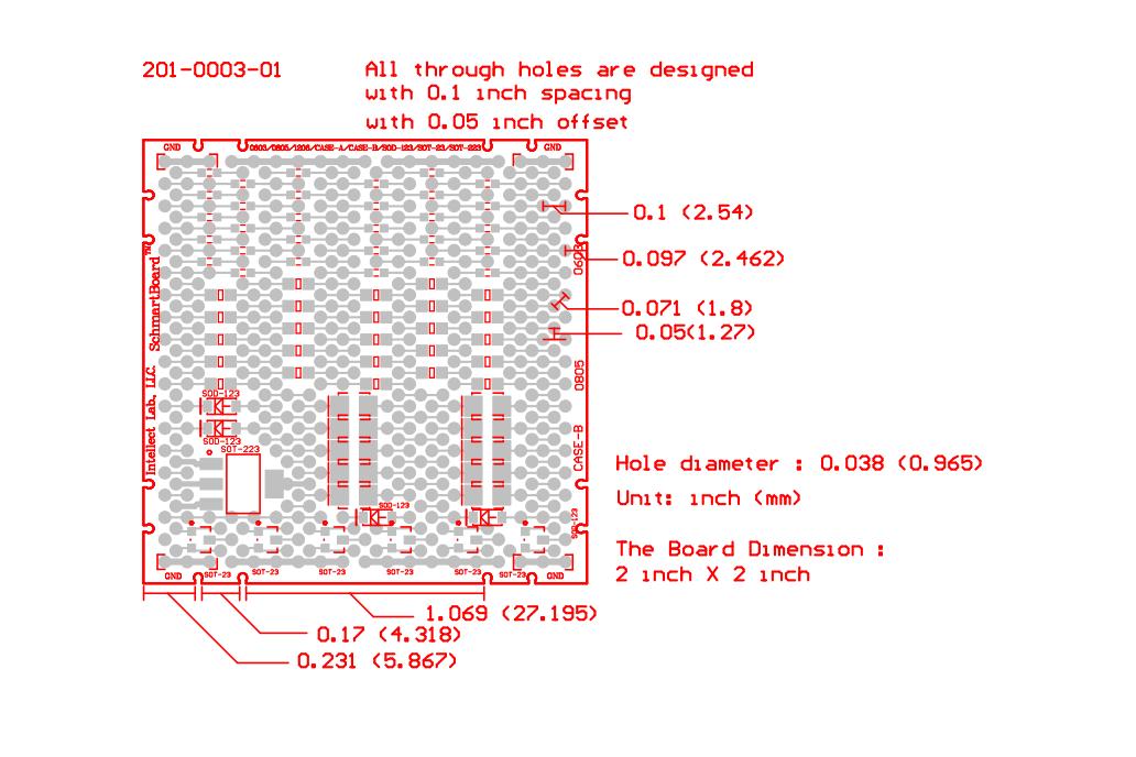 "SchmartBoards Discrete Surface Mount 2"" X 2"" Grid 2"