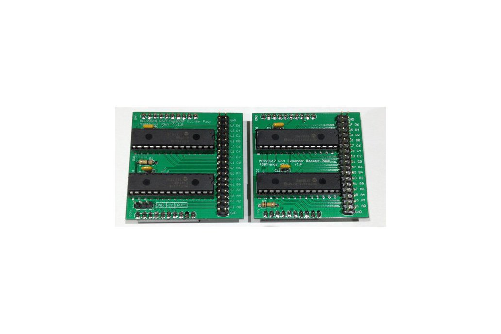 32 IO Expander Booster Pack PCB (MCP23S17) 1