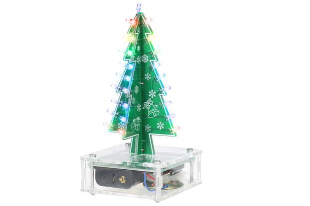 DIY Colorful LED Christmas Tree with Speaker